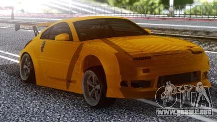Nissan 350z Yellow para GTA San Andreas