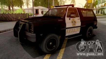 GTA IV Declasse Sheriff Rancher SA Style para GTA San Andreas