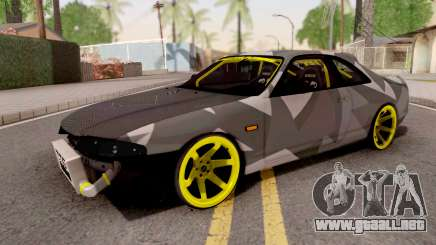Nissan Skyline R33 Drift Camo v3 para GTA San Andreas