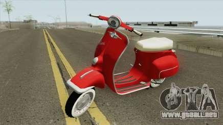 Vespa 150SS Red Style para GTA San Andreas