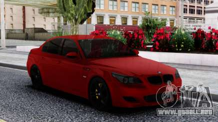 BMW M5 E60 Sedan Red para GTA San Andreas