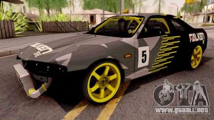 Nissan Skyline R33 Drift Falken Camo v2 para GTA San Andreas