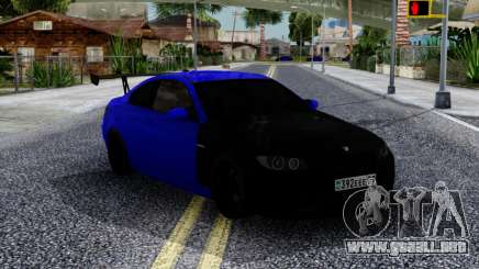 BMW M3 E92 Black & Blue para GTA San Andreas