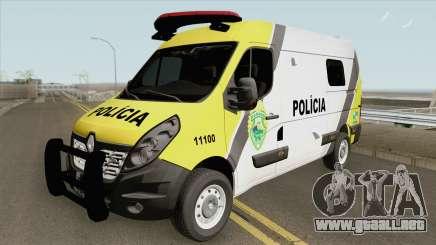 Renault Master 2017 (Policia Militar Do Parana) para GTA San Andreas