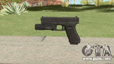 Glock 17 Black With Flashlight para GTA San Andreas