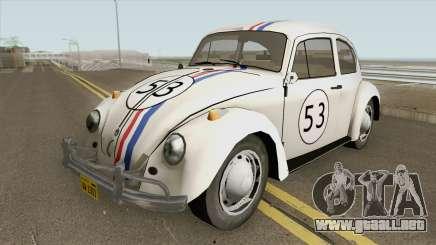 Volkswagen Beetle 1968 Herbie para GTA San Andreas