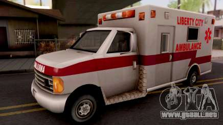Ambulance GTA III Xbox para GTA San Andreas