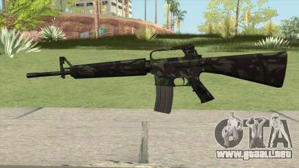 M16A2 Full Forest Camo (Stock Mag) para GTA San Andreas