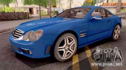Mercedes-Benz SL65 AMG Blue para GTA San Andreas