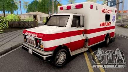 Ambulance GTA VC Xbox para GTA San Andreas