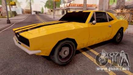Chevrolet Camaro SS Yellow para GTA San Andreas