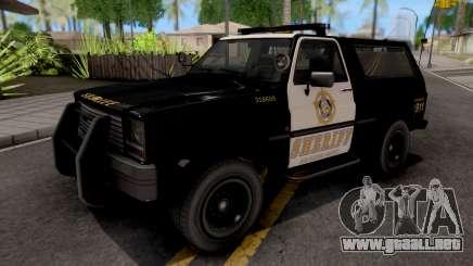 GTA IV Declasse Sheriff Rancher IVF para GTA San Andreas