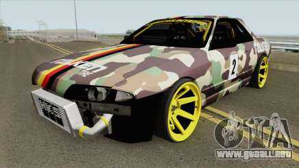 Nissan Skyline R32 Drift Falken Germany HQ para GTA San Andreas