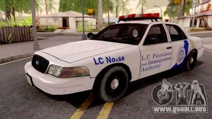 Ford Crown Victoria NOOSE Cruiser SA Style para GTA San Andreas