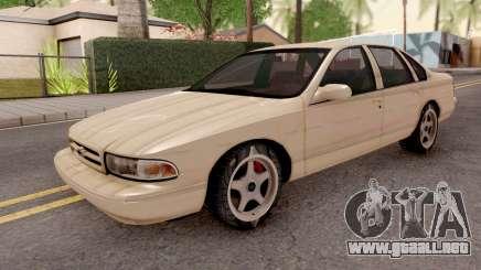 Chevrolet Impala SS 1996 MQ para GTA San Andreas