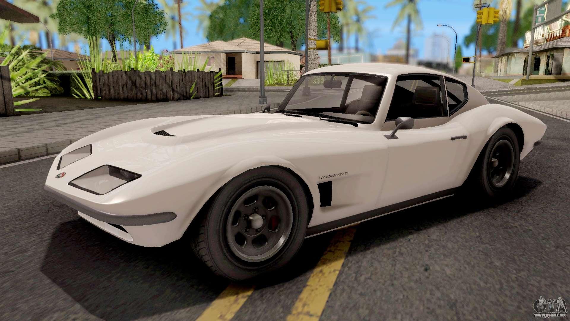 GTA V Invetero Coquette Classic Hardtop Stock Para GTA San