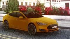 Tesla Model S yellow para GTA San Andreas
