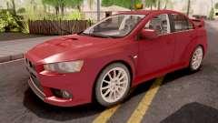 Mitsubishi Lancer Evo X Red para GTA San Andreas
