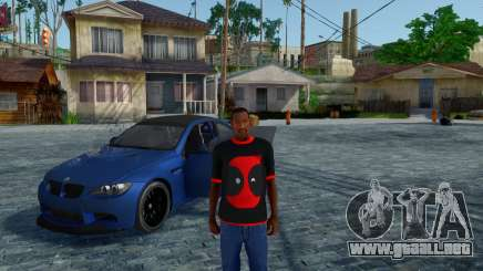 Deadpool Negro T-Shirt V1.0 para GTA San Andreas