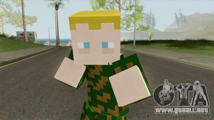 Army Minecraft Skin para GTA San Andreas