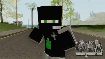 SWAT Minecraft Skin para GTA San Andreas