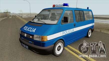 Volkswagen Transporter Mk4 Policija V1 1999 para GTA San Andreas