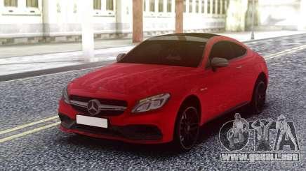 Mercedes-Benz C63S AMG Red para GTA San Andreas