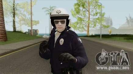 GTA Online Random Skin 192 SAHP Biker Officer para GTA San Andreas
