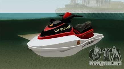 Speedophile Seashark Lifeguard GTA V para GTA San Andreas