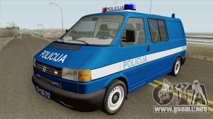 Volkswagen Transporter Mk4 Policija V2 1999 para GTA San Andreas
