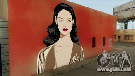 Rihanna Street Art para GTA San Andreas