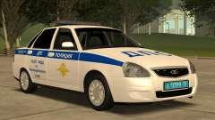 Lada 2170 SOBRE la policía de tráfico