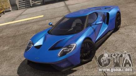 Ford GT 2017 Blue para GTA 5