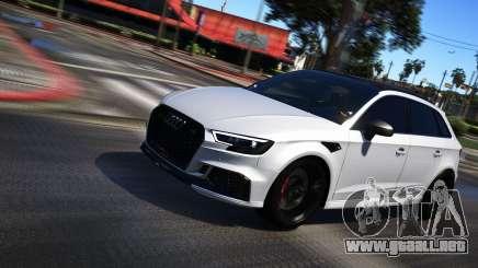 Audi RS3 Sportback 2018 para GTA 5