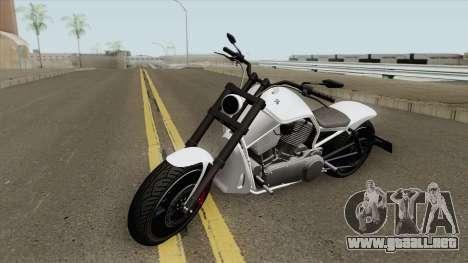 Western Motorcycle Nightblade (Stock) GTA V para GTA San Andreas
