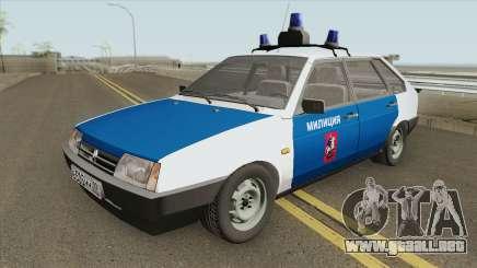 2109 (Policía de Moscú) para GTA San Andreas