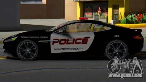 Aston Martin Vanquish Police Version (IVF) para GTA San Andreas