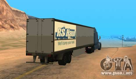 Trailer for Peterbilt 579 Sleeper (SA Style) para GTA San Andreas