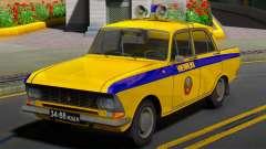 El Moskvitch 412 de la Policía (GAI) de la URSS