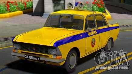 El Moskvitch 412 de la Policía (GAI) de la URSS para GTA San Andreas