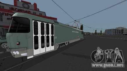 Tranvía Tatra T3SU de Riego para GTA San Andreas