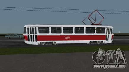Tranvía Tatra T3SU Formación para GTA San Andreas