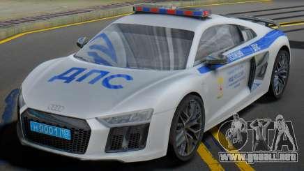 Audi R8 2015 Police para GTA San Andreas