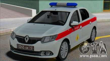 Renault Logan 2016 Guardia Rusa para GTA San Andreas