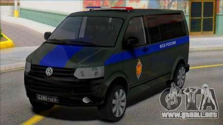 Volkswagen Transporter T5 FSB de Rusia para GTA San Andreas