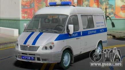 GAZ 2217 Sobol de la Policía el Deber de para GTA San Andreas