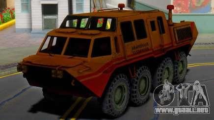 El GAZ 59037 - AAA para GTA San Andreas