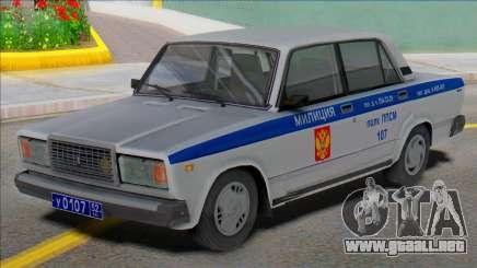 Vaz 2107 PPP Police 2004 para GTA San Andreas