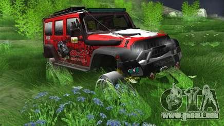 Jeep Wrangler Rubicon Caterpillar para GTA San Andreas
