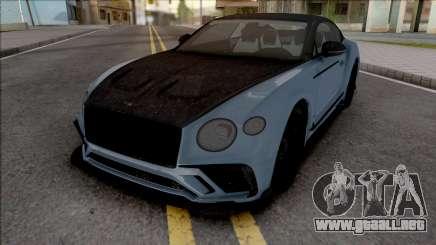 Bentley Continental GT Mansory HQ para GTA San Andreas